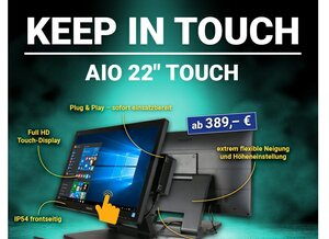 "Keep in touch! | AIO 22"" Touch"