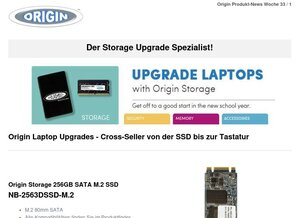 Origin Laptop Upgrades - Cross-Seller von der SSD bis zur Tastatur