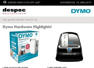 Dymo Hardware Highlights!