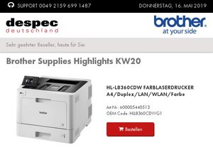 Brother Supplies Highlights KW20