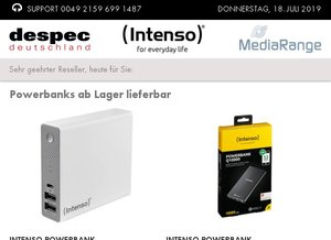 Powerbanks ab Lager lieferbar