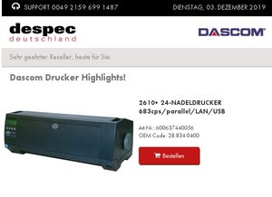 Dascom Drucker Highlights!
