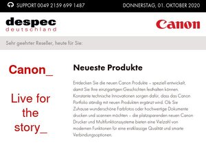 Canon Produkte ab Lager lieferbar