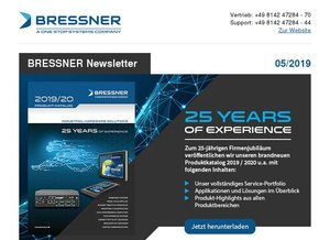 BRESSNER Newsletter - 05/2019: 25 Years of Experience