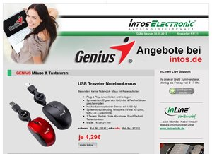 Genius Notebookmaus ab 4,29€ bei intos.de!