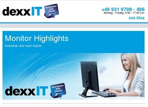 Monitore - Highlights bei dexxIT