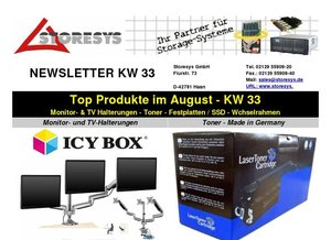 STORESYS: Top Produkte im August - KW 33