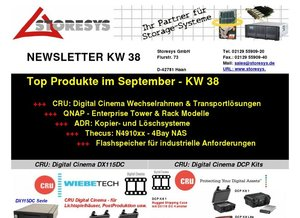 Storesys: Top Produkte im September - KW 38