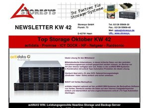 Top Storage KW 42 - Nearline Storage - Backup Server - Promise RAID - Wechselrahmen - NAS