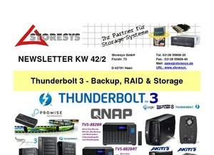 Storesys: Thunderbolt 3 - Backup, RAID & Storage