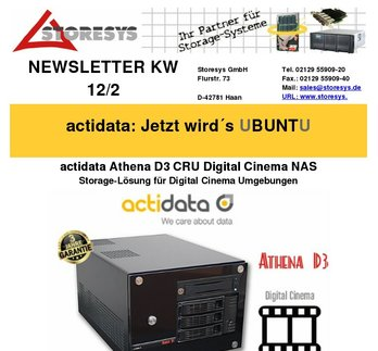 actidata Athena D3 CRU Digital Cinema NAS