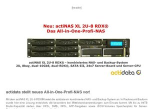 Neues All-in-One-Profi-NAS von actidata!