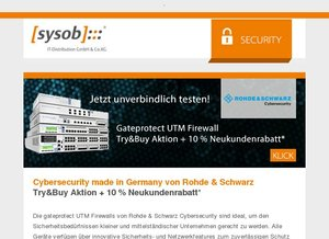 Rohde & Schwarz Cybersecurity – Try&Buy Aktion