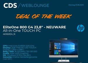 Deal of the week: HP EliteOne 800 G4 TOUCH 879 Euro > HP NEUWARE