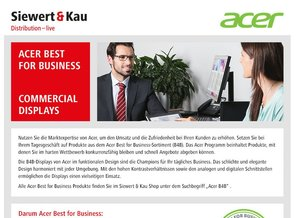 Acer Best for Business bei Siewert & Kau – Commercial Displays